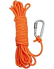 BeGrit 10 m Floating Rope Anchor Mooring Rope Multifunction Rope 6 mm Kayak Canoe Tow Throw Line with Aluminum D-ring Locking Carabiner for Boat Camping Hiking Awning Tent Canopy