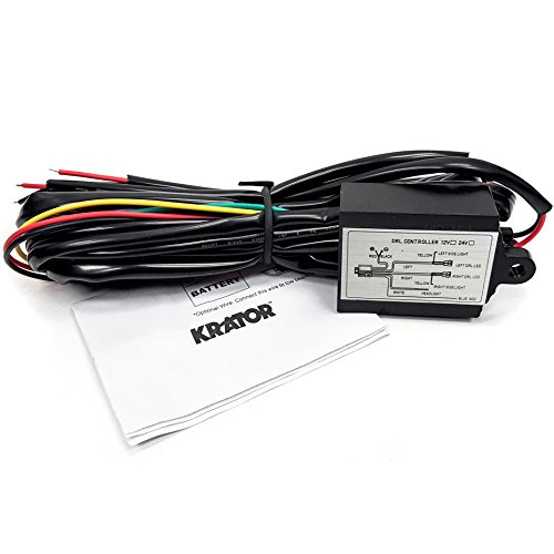 (Krator DRL001 LED (Universal Daytime Running Automatic ON/Off Controller Module Box Relay))