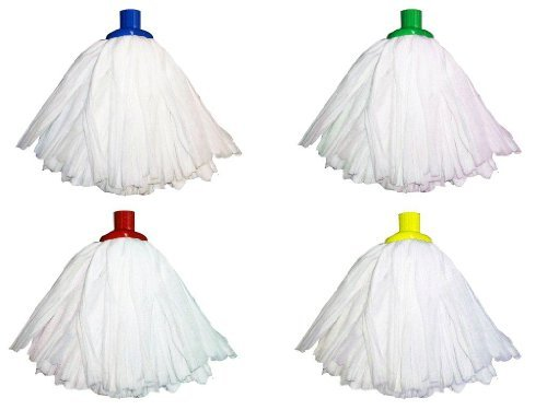 Mop Colour Coded (Professional Super White Colour Coded Mop Heads - One of each colour by Ramon Hygiene)