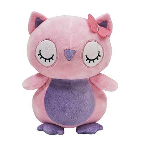 Bedtime Originals Butterfly Meadow Pink/Purple Plush Owl Stuffed Animal - Jewel