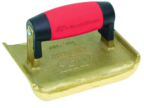 QLT By MARSHALLTOWN 7590 6-Inch x 3-Inch Bronze Edger-Soft Grip Handle; 3/8-Inch Radius, 5/8-Inch Lip