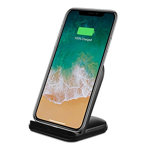 RNDs Fast Wireless Charging Stand for Apple iPhone (8 8 Plus X (10)) (AC Adapter NOT included) (black)