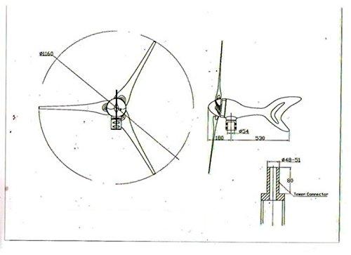 gowe 400w wind generator  500w 3phase ac 10 8v
