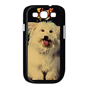 Mixed Breed Terrier Watercolor style Cover Samsung Galaxy S3 I9300 Case (Pets Watercolor style Cover Samsung Galaxy S3 I9300 Case)