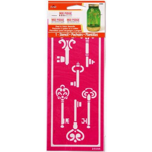 Mod Podge Peel and Stick Stencil, 25094 Skeleton (Stencil Key)