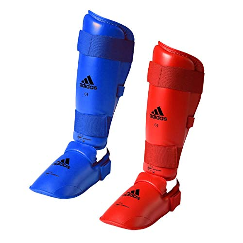 adidas WKF Karate Shin Guard (Blue, M)