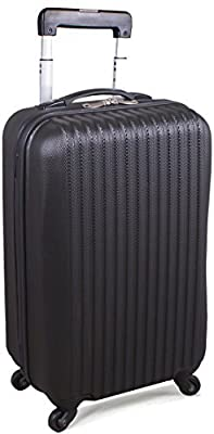 20-Inch ABS Lightweight Carry On Spinner Luggage - Black - Utopia Home