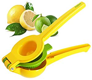 Hlm Limes and Lemon Squeezer - Manual Hand Held Orange Lime and Lemons Citrus Juicer - Lemon Water Maker - Fruit Wedge and Salad Dressing Tool  Orange Slice Presser  Iced Tea Lemonade Press