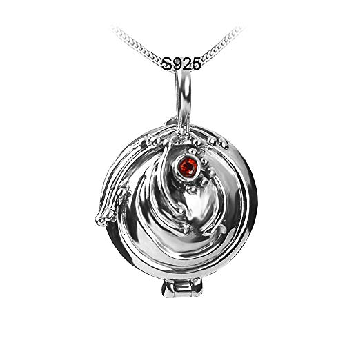 OCARLY 925 Elena's Vervain Locket Necklace Katherine's Daylight Walking Pendant The Vampire Diaries