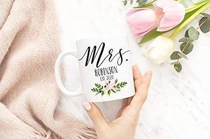mrs wedding mug customized mrs mug bridal shower gift gifts for her