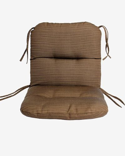 Comfort Classics Inc. Sunbrella Outdoor Chair Cushion in Dupione Walnut
