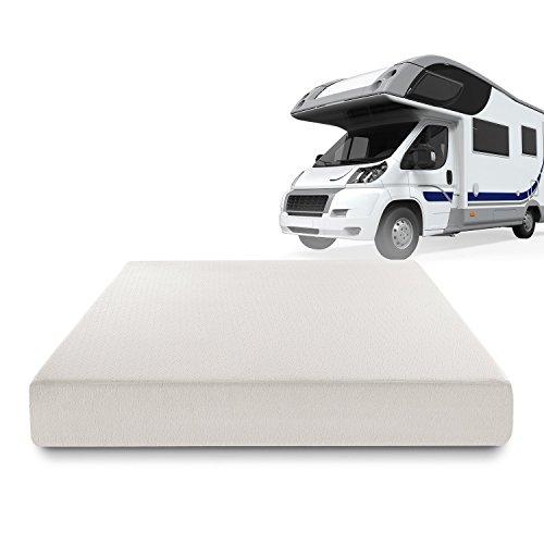 Zinus Deluxe Memory Foam 8 Inch RV / Camper / Trailer / Truck Mattress, Short Queen ()