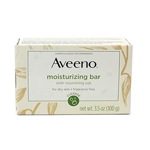 - Aveeno Moisturizing Bar with Natural Colloidal Oatmeal for Dry Skin, Fragrance Free, 3 Oz (Pack of 4)