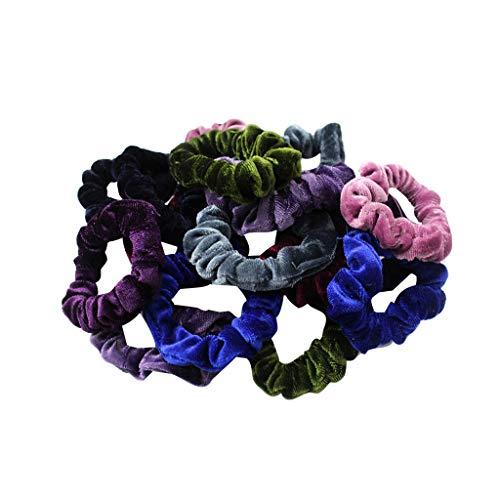 40 Pcs Premium Velvet Multicolor Elastic Hair Bands Scrunchy for Women Lady Girls Rope Headwear Accessories (Multicolor)