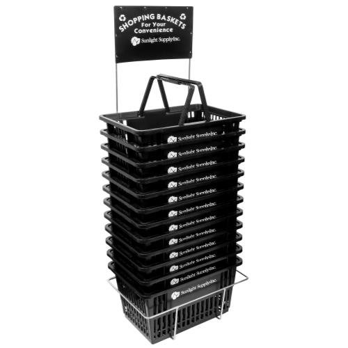 Sunlight Supply Shopping Basket Sunlight Supply Plastic Shopping Basket w/ Stand by Sunlight Supply Shopping Basket