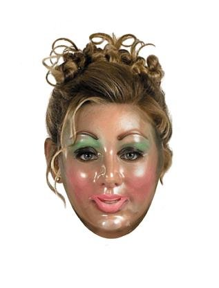 Transparent Halloween Mask (Disguise Costumes Transparent Woman Mask,)