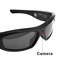 Forestfish Sunglasses with Camera HD 720P Video Recorder Spy Glasses with Camera Camcorder with 8GB SD Card Polarized Sunglasses, Frosted Black