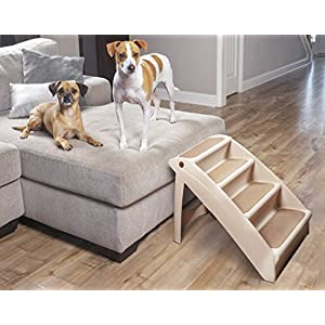PetSafe Solvit PupSTEP Plus Pet Stairs, Foldable Steps for Dogs and Cats, Best for Small to Medium Pets 95