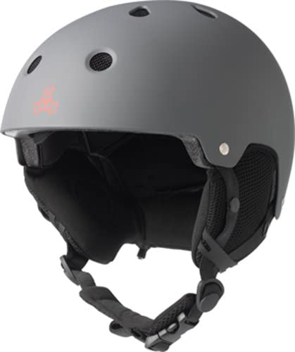 Triple Eight Snow Audio Helmet 2017 Model , Gun Rubber, Small Medium