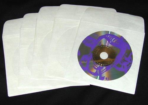 Tyvek Cd / Dvd Storage - (50) Tyvek CD / DVD Disc Sleeves With Flap & Window #CDIYWF - Tyvek is Tougher Than Paper!