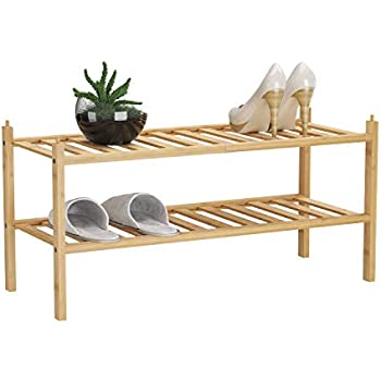 Amazon.com: Whitmor - Estantes de madera (2 niveles), Madera ...