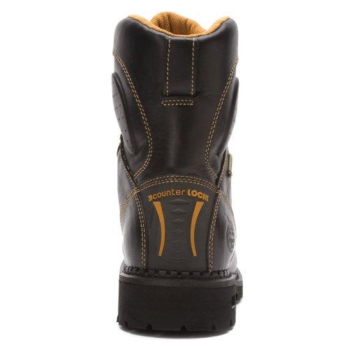Georgia Boot Heren G028 Comfort Kern 8-inch Wp Soft Toe Logger Zwart