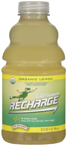 Recharge Lemon (R.W. Knudsen Family Recharge Organic Lemon Flavored Sports Beverage Mix, 32 Ounce (Pack of 12))