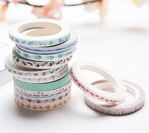 LOSOUL 1PC Decorative Lace Tape Colorful Sticky Adhesive Masking Tape DIY Craft Decorations Scrapbooking Decorating Stickers Random Color