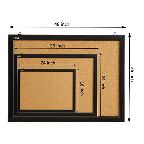 Wood Frame Cork Board Bulletin Board 24 x 18, Mounting Hardware, Push Pins Included by gideal (Image #5)