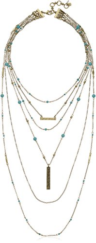 """Lucky Brand Major Lucky Layer Turquoise Necklace, 18"""" + 2"""" Extender"""
