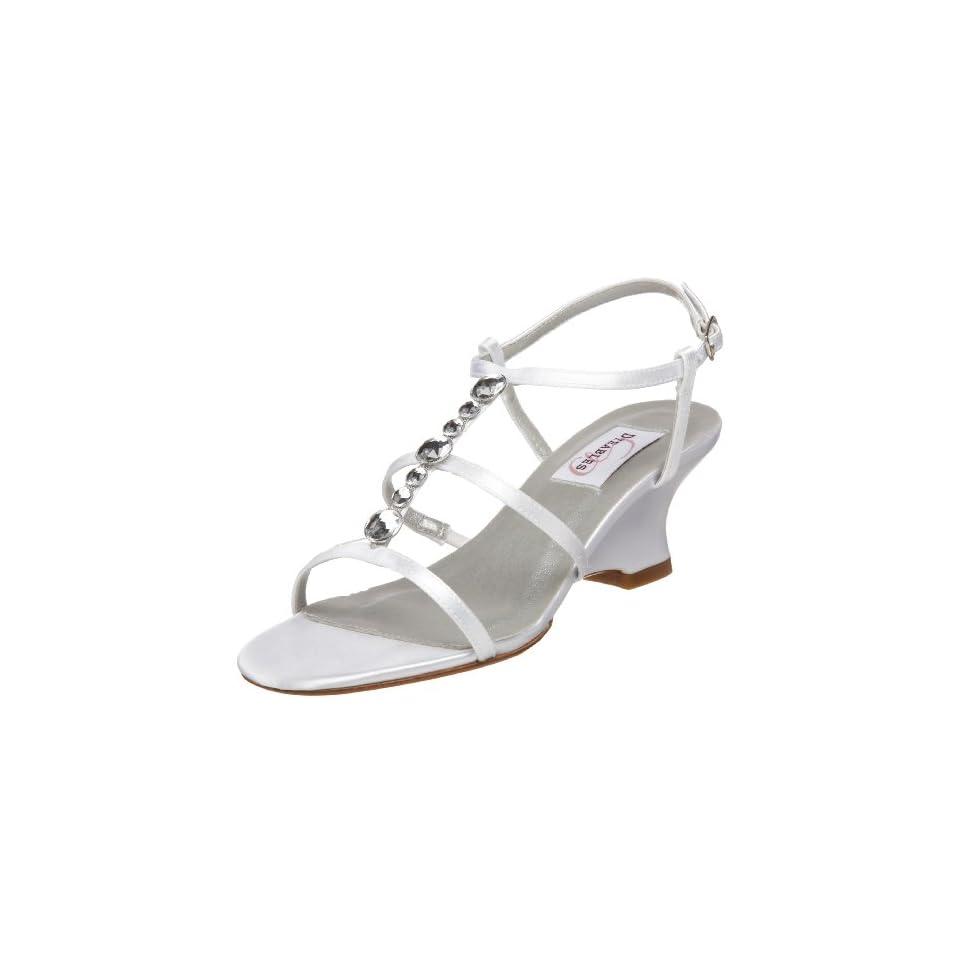 Dyeables Womens Chloe T Strap Wedge Sandal