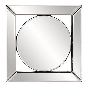 "Howard Elliott Lula Square Frameless Hanging Mirror, Decorative Wall Accent, 12"" x 12"" x1"""