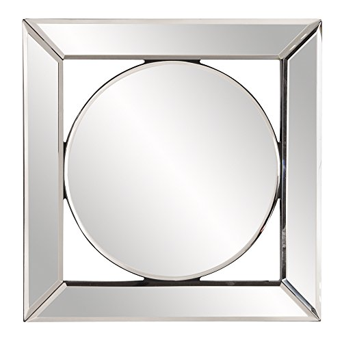"Howard Elliott Lula Square Frameless Hanging Mirror, Decorative Wall Accent, 12"" x 12"" x1"""
