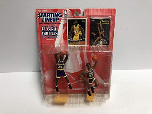 Shaquille O'Neal & Kareem Abdul-Jabbar SLU Sports Superstar Collectibles Los Angeles Lakers Classic Doubles action figure set with trading cards