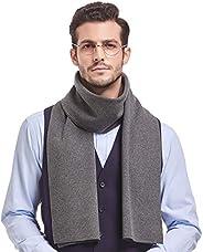 Taylormia Men Winter Scarf Wool Coton, Cashmere Feel Luxurious Soft Warm Scarves Formal Elegant