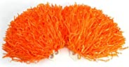 8 Colors 2pcs Cheerleading Pom Poms Fashionable Cheerleader Pom Poms Sports Party Dance Accessories