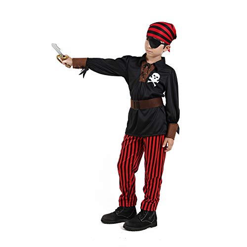 Boys Pirates Costumes Kids Skull Buccanner Halloween Pirate Captain Costume Sets - http://coolthings.us
