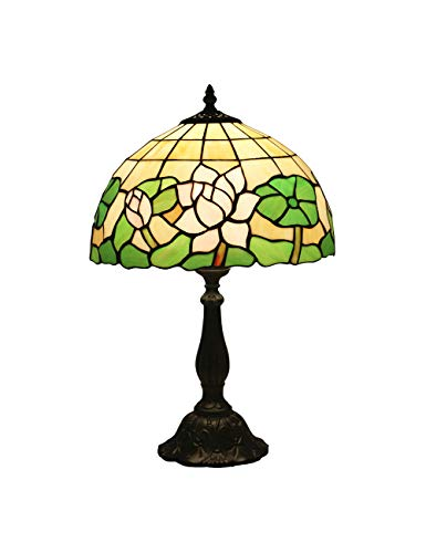KCoob Classic Table Lamp Lotus Leaves Lamp Shade Resin Base
