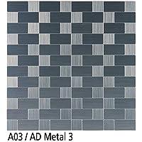 Euroshrink A03/AD Mosaico Autoadhesivo Plata Cepillado
