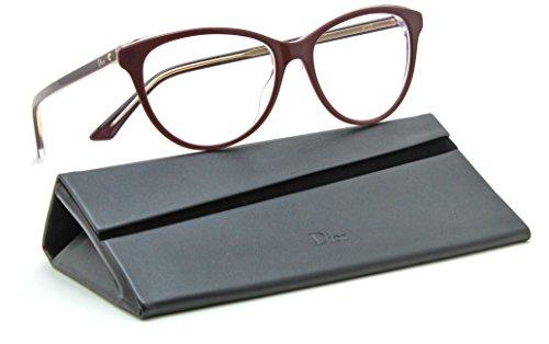 Dior Montaigne 17 Women Cat Eye RX - able Glasses Burgundy Frame 0MVG, - Cat Frames Dior Eye