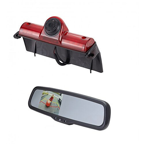 EchoMaster GMK3R 2003-2016 Chevy Express and GMC Savannah CAMERA KIT - Backup Camera and Rearview mirror with built in monitor (PCAM-GM1 and (05 Rear Van Auto)
