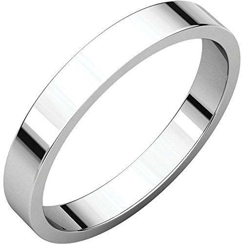 Platinum 03.00 Mm Flat (03.00 mm Flat Band in Platinum ( Size 9 ))