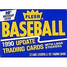 - 1990 Fleer Update Baseball Cards Unopened Factory Set (132 cards) Frank Thomas Rookie card!!