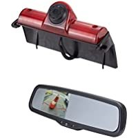 EchoMaster GMK3R 2003-2016 Chevy Express and GMC Savannah CAMERA KIT - Backup Camera and Rearview mirror with built in monitor (PCAM-GM1 and PMM-35-PL)