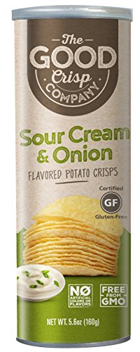 The Good Crisp Company Sour Cream and Onion Stacked Chip, 3 Count, 3 x 5.6 oz. (Onion Crisps)