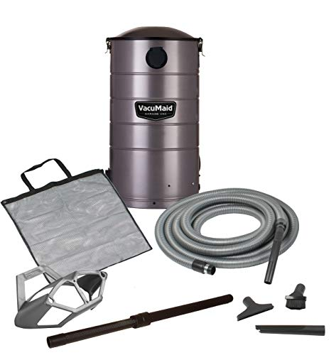 VacuMaid GV50 Wall Mounted Garage and Car Vacuum with 50 ft hose and Tools
