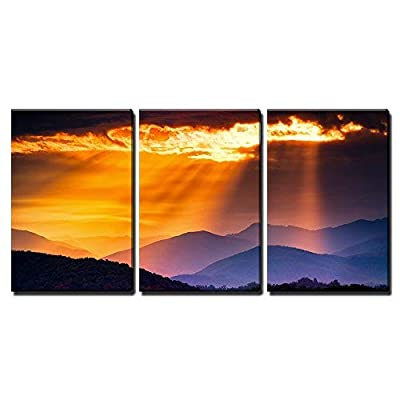 Quality Creation, Elegant Expertise, Colorful Autumn Sunrise Over The Smoky Mountains x3 Panels