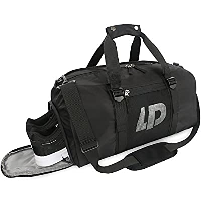 Cute Dinosaur Sports Gym Bag with Shoes Compartment Travel Duffel Bag for Men and Women