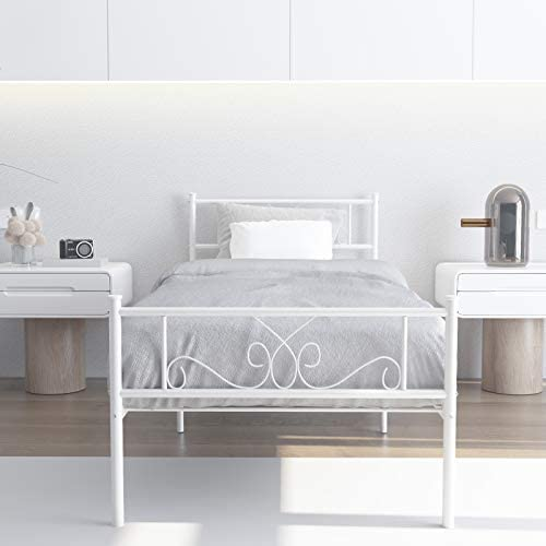 WeeHom Kids Student Single Metal Bed Frame Twin Size