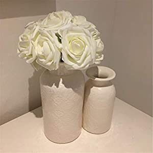 10 Heads 8Cm Pretty Charming Artificial Flowers Pe Foam Rose Flowers Bride Bouquet Home Wedding Decor Scrapbooking DIY Supplies 14